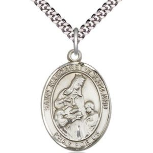 Jewelry - Sterling Silver St Margaret of Scotland Pendant